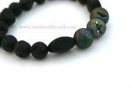 Dark Druzy Sea Lava