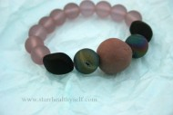 Druzy Pink and Black