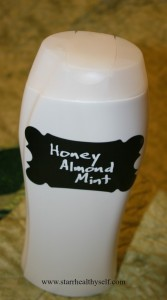 bottled honey almond mint