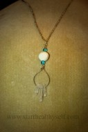 Crystal Blue Sea on Silver Chain